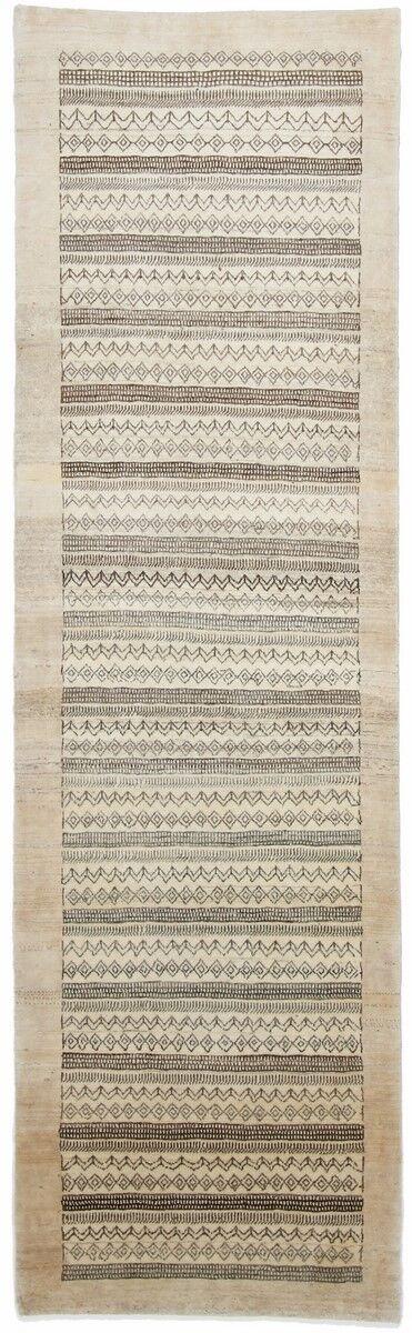 Nain Trading Tappeto Fatto A Mano Persia Gabbeh Loribaft 296x86 Corridore Grigio/Beige (Lana, Persia/Iran)