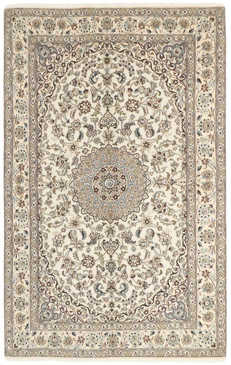 Nain Trading Tappeto Nain 9La 254x156 Grigio/Beige (Lana / Seta, Persia/Iran, Annodato a mano)