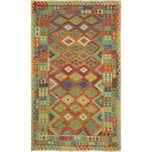 Nain Trading Tappeto Kilim Afghan Maimana 263x173 Grigio Scuro/Marrone (Afghanistan, Tessuto a mano, Lana)
