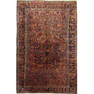 Nain Trading Tappeto Fatto A Mano Saruk Vecchio 325x202 Grigio Scuro/Marrone (Lana, Persia/Iran)