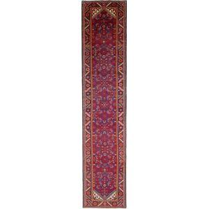 Nain Trading Tappeto Fatto A Mano Lori 404x82 Corridore Ruggine/Rosa (Lana, Persia/Iran)