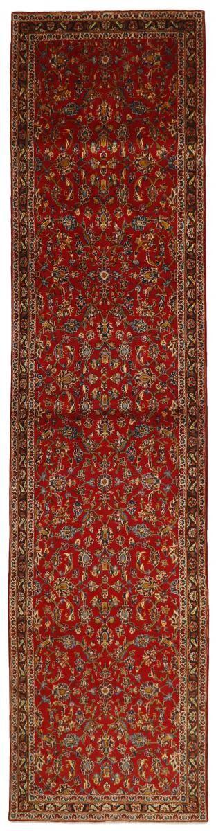 Nain Trading Tappeto Keshan 391x97 Corridore Ruggine/Viola (Lana, Persia/Iran, Annodato a mano)