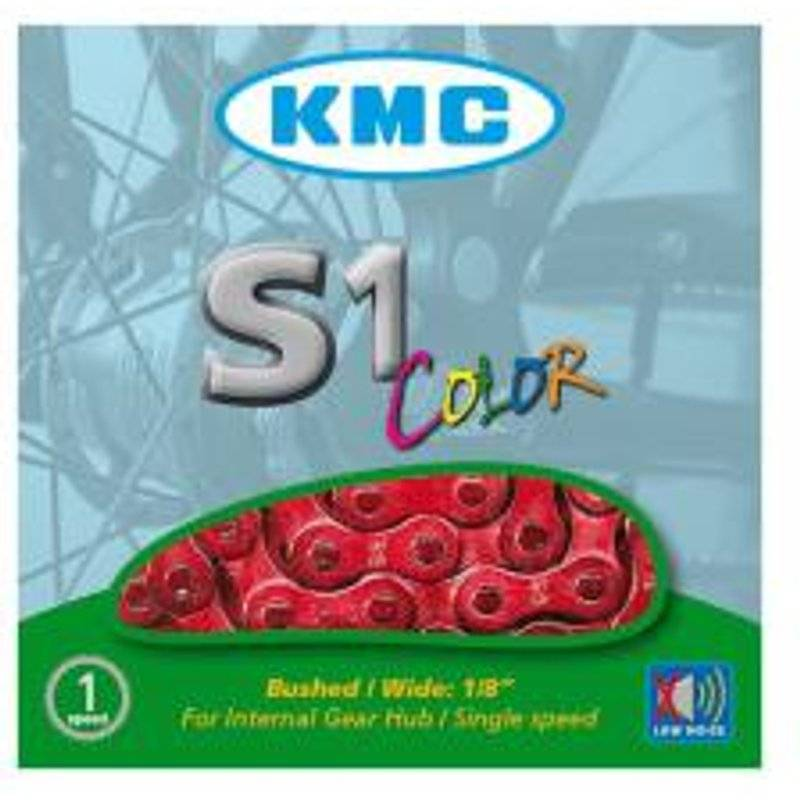 KMC chain single speed 1/2'' x 1/8'' red