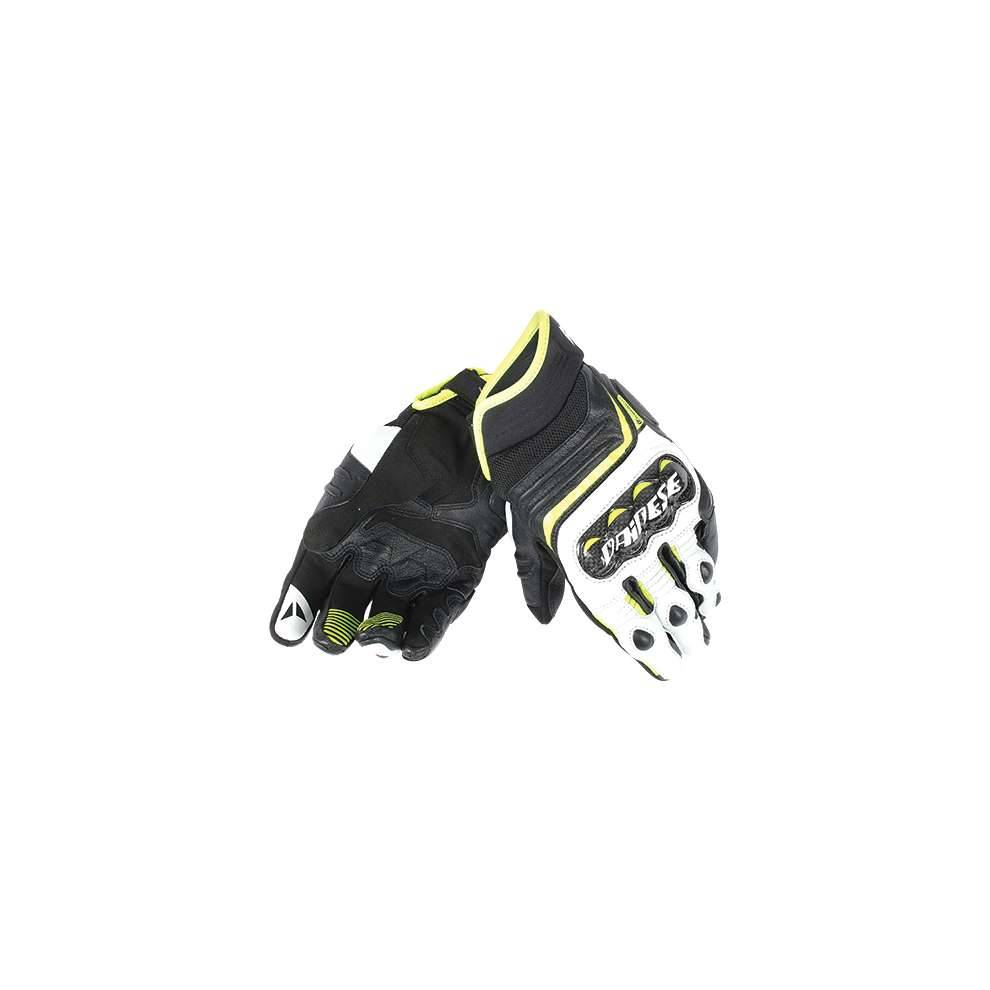 Dainese Guanto Carbon D1 short nero giallo fluo