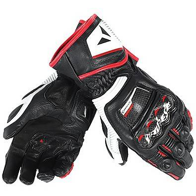 Dainese Guanto Druid D1 Long nero-bianco-rosso