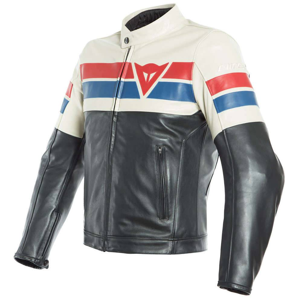 Dainese Giacca 8 Track nero ice rosso