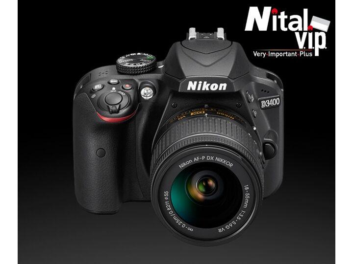 Nikon D3400 + Af-P Dx 18-55mm Vr - Garanzia Ufficiale Nital 4 Anni