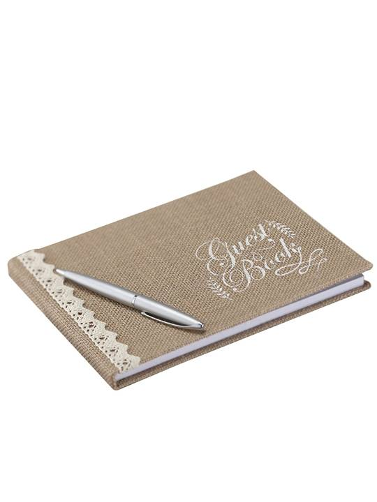 Ginger Guest book romantico vintage