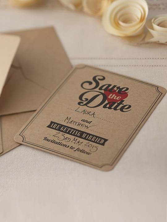 Ginger Save the date love vintage 10 pezzi
