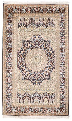 annodato a mano. provenienza: india tappeto fatto a mano cachemire puri di seta 94x156 grigio chiaro/beige (seta, india)