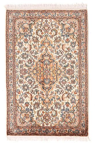 annodato a mano. provenienza: india tappeto cachemire puri di seta 64x100 rosa chiaro/marrone chiaro (seta, india)