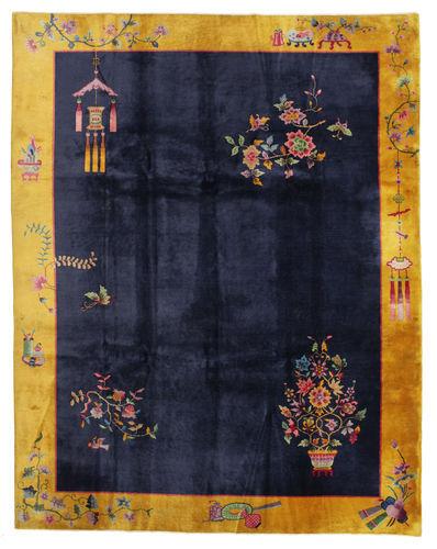 RugVista Tappeto Orientale Cinesi Antichi: Art Deco 1920 280X355 Nero/Grigio Scuro Grandi (Lana, Cina)