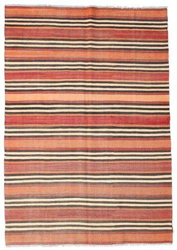 Annodato a mano. Provenienza: Turkey 177X252 Tappeto Kilim Semi-Antichi Turchi Orientale Tessuto A Mano Beige/Rosso Scuro (Lana, Turchia)