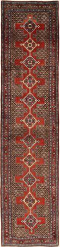 Annodato a mano. Provenienza: Persia / Iran Tappeto Persiano Senneh 92X390 Alfombra Pasillo Rosso Scuro/Marrone (Lana, Persia/Iran)