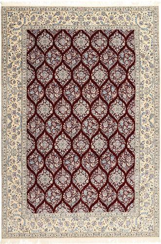 RugVista 205X300 Tappeto Persiano Fatto A Mano Orientale Lana/Seta Grigio Chiaro/Rosso Scuro