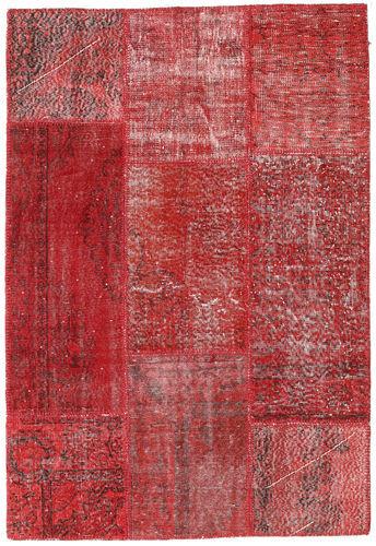 Annodato a mano. Provenienza: Turkey Tappeto Fatto A Mano Patchwork 140X200 Rosso Scuro/Rosso (Lana, Turchia)