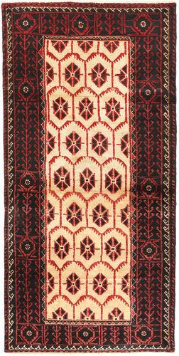 Annodato a mano. Provenienza: Persia / Iran Tappeto Beluch 92X190 Rosso Scuro/Nero (Lana, Persia/Iran)