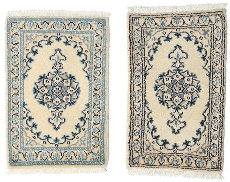 Annodato a mano. Provenienza: Persia / Iran Tappeto Nain 40X60 Grigio Chiaro/Beige (Lana, Persia/Iran)