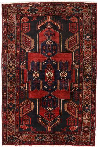 Annodato a mano. Provenienza: Persia / Iran 131X200 Tappeto Hamadan Orientale Fatto A Mano Rosso Scuro/Nero (Lana, Persia/Iran)