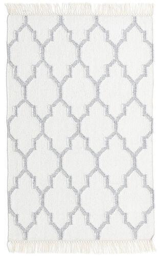 Annodato a mano. Provenienza: India Tappeto Tessuto A Mano Bambù Di Seta Kilim 60X90 Bianco/Creme/Beige (Lana/Seta Di Bambù, India)