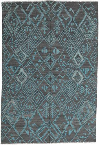 Annodato a mano. Provenienza: Afghanistan Tappeto Tessuto A Mano Kilim Moderni 197X291 Azzurro/Blu (Lana, Afghanistan)