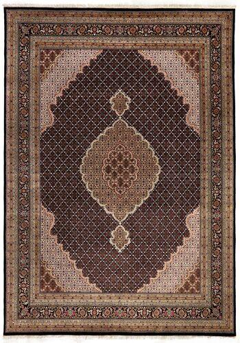 Annodato a mano. Provenienza: India 247X347 Tappeto Tabriz Royal Orientale Fatto A Mano Marrone/Marrone Scuro/Rosso Scuro (India)