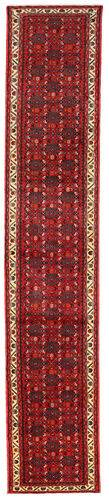 Annodato a mano. Provenienza: Persia / Iran Tappeto Persiano Hamadan 83X393 Alfombra Pasillo Rosso Scuro/Marrone Scuro (Lana, Persia/Iran)