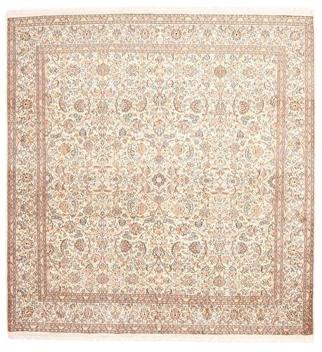 Annodato a mano. Provenienza: India Tappeto Cachemire Puri Di Seta 212X218 Quadrato (Seta, India)