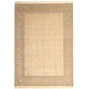 Annodato a mano. Provenienza: Persia / Iran 250X350 Tappeto Orientale Isfahan Ordito In Seta Firmato: Dardashti Beige/Marrone Chiaro Grandi (Lana/Seta, Persia/Iran)