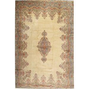 Annodato a mano. Provenienza: Persia / Iran 405X605 Tappeto Orientale Kirman Marrone Chiaro/Beige Grandi (Lana, Persia/Iran)