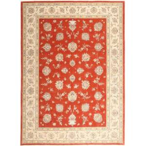 Annodato a mano. Provenienza: Persia / Iran Tappeto Tabriz 50 Raj Con Seta 296X403 Beige/Ruggine/Rosso/Rosso Grandi (Lana/Seta, Persia/Iran)