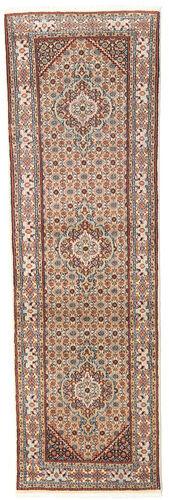 annodato a mano. provenienza: persia / iran tappeto fatto a mano moud 78x248 alfombra pasillo beige/rosso scuro (lana/seta, persia/iran)