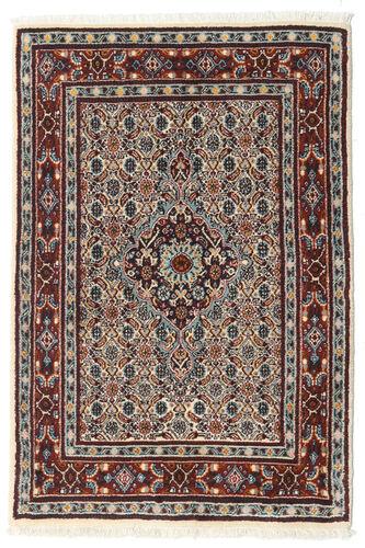 annodato a mano. provenienza: persia / iran tappeto moud 77x114 marrone scuro/beige (lana/seta, persia/iran)