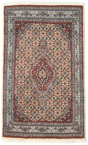 annodato a mano. provenienza: persia / iran 74x122 tappeto orientale moud grigio chiaro/beige (lana/seta, persia/iran)