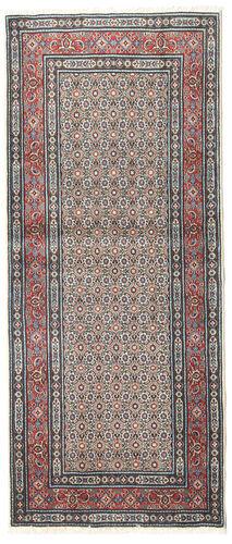 annodato a mano. provenienza: persia / iran tappeto moud 84x195 alfombra pasillo grigio chiaro/beige (lana/seta, persia/iran)