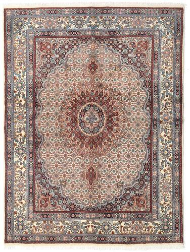 annodato a mano. provenienza: persia / iran tappeto moud 148x200 beige/grigio chiaro (lana/seta, persia/iran)