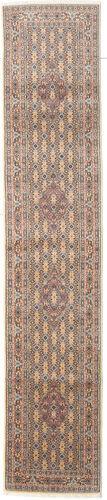 annodato a mano. provenienza: persia / iran 77x387 tappeto orientale moud alfombra pasillo marrone/beige (lana/seta, persia/iran)