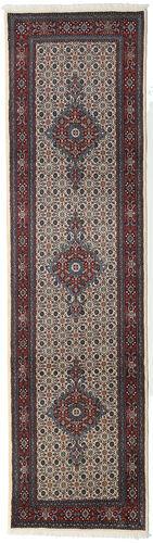 annodato a mano. provenienza: persia / iran tappeto orientale moud 79x293 alfombra pasillo grigio scuro/beige (lana/seta, persia/iran)