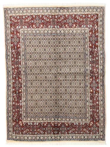 annodato a mano. provenienza: persia / iran tappeto moud 146x195 grigio chiaro/beige (lana/seta, persia/iran)