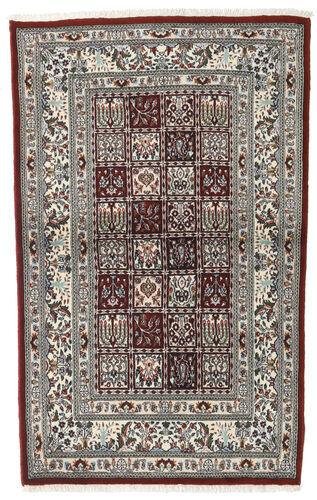 annodato a mano. provenienza: persia / iran 97x150 tappeto orientale moud marrone scuro/beige/grigio chiaro (lana/seta, persia/iran)