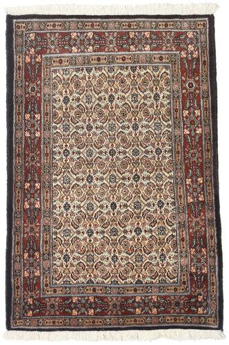 annodato a mano. provenienza: persia / iran 77x116 tappeto orientale moud marrone scuro/beige (lana/seta, persia/iran)