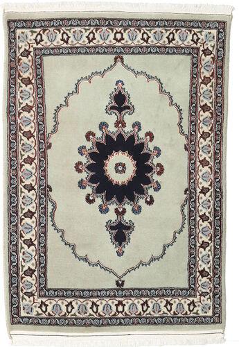 annodato a mano. provenienza: persia / iran tappeto persiano moud 76x110 grigio chiaro/beige (lana/seta, persia/iran)