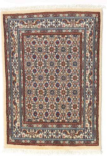 annodato a mano. provenienza: persia / iran tappeto moud 62x85 beige/marrone scuro (lana/seta, persia/iran)