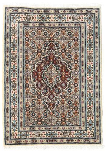 annodato a mano. provenienza: persia / iran 60x85 tappeto orientale moud beige/grigio chiaro/marrone scuro (lana/seta, persia/iran)