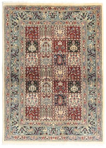 annodato a mano. provenienza: persia / iran tappeto fatto a mano moud 100x138 grigio scuro/beige (lana/seta, persia/iran)