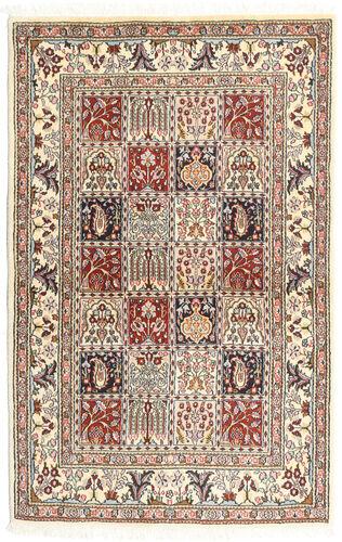 annodato a mano. provenienza: persia / iran tappeto moud 98x154 grigio chiaro/beige (lana/seta, persia/iran)