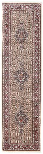 annodato a mano. provenienza: persia / iran tappeto persiano moud 78x292 alfombra pasillo grigio chiaro/beige (lana/seta, persia/iran)
