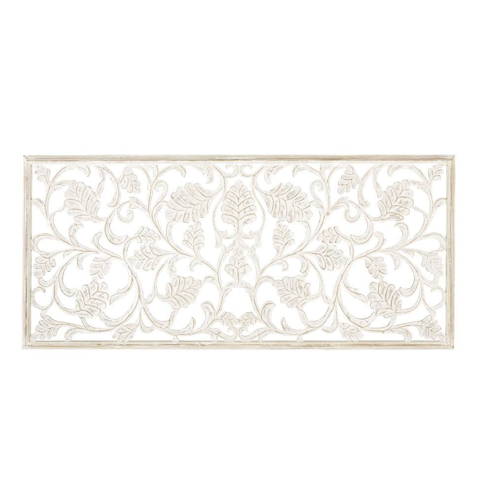 Maisons du Monde Decorazione da parete scolpita bianca, 180x80 cm