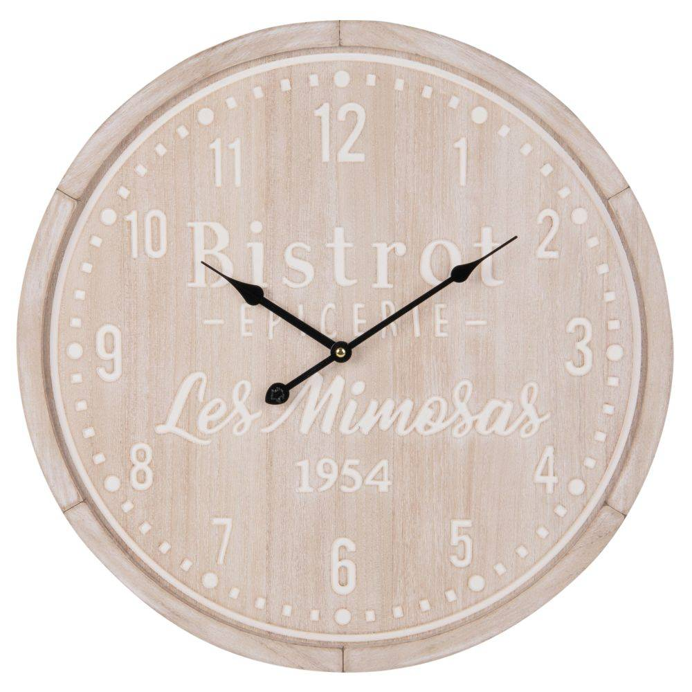 Maisons du Monde Orologio sbianchito inciso 50 cm