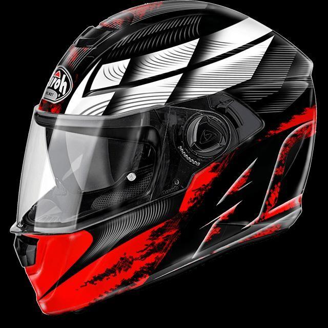 airoh casco moto  storm starter red gloss stst55